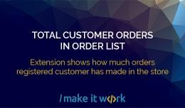 Total customer orders in order list