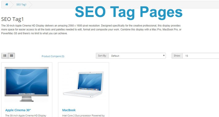 SEO Tag Pages