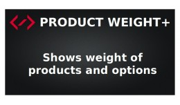 Product Weight+ (Show product and options weight)