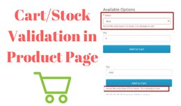 Stock Validation in Product Page