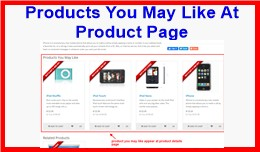 Products You May Like At Product Page