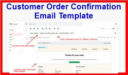 Customer Order Confirmation Email Template