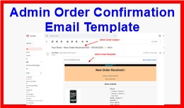 Admin Order Confirmation Email Template