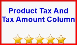 Product Tax And Tax Amount Column