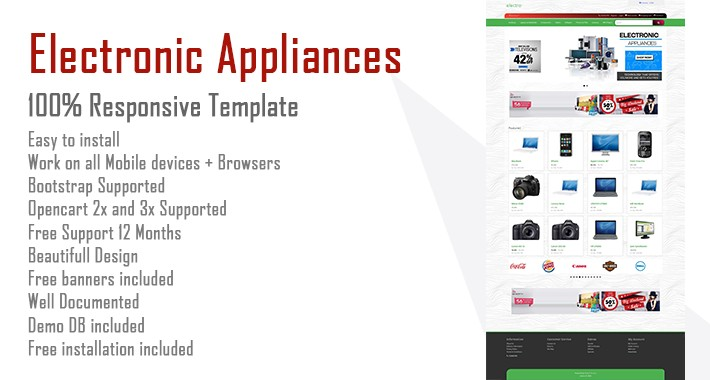 Electronic appliances Opencart Template