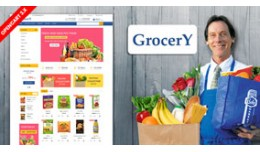 Blue Grocery and organic Shopping Theme (Free in..