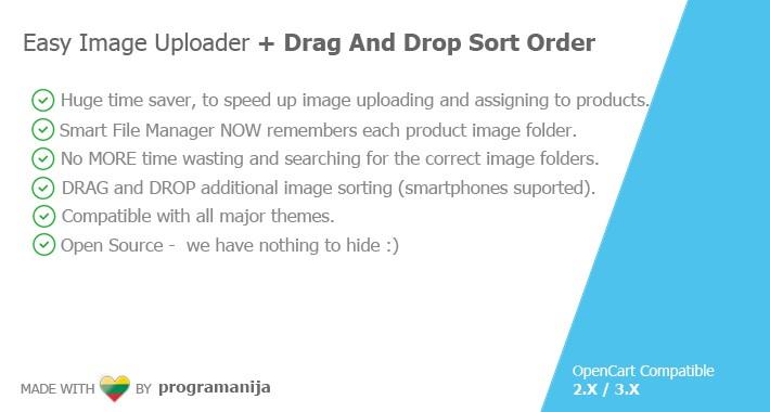 Easy Image Uploader + Drag And Drop Sort Images