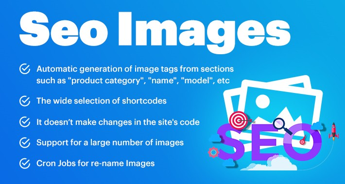SEO Images Generator - Alt, Title, File Name OpenCart 1.5-3