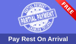 Pay Rest On Arrival | Partial Payment