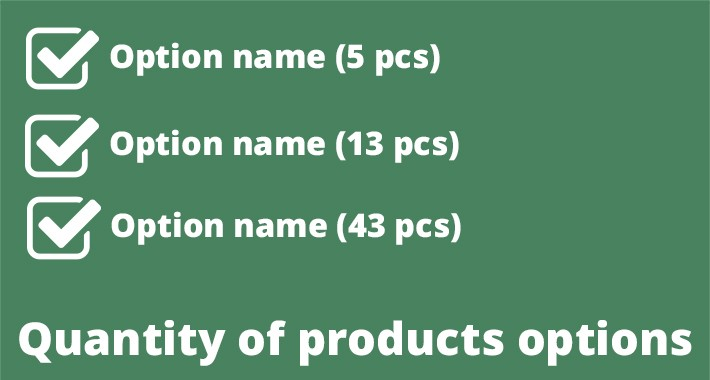 Quantity of products options