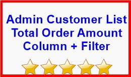 Admin Customer List Total Order Amount Column + ..