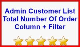 Admin Customer List Total Number Of Order Column..