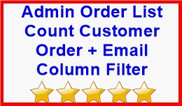 Admin Order List Count Customer Order + Email Co..