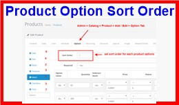 Product Option Sort Order