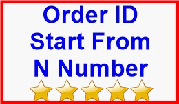 Order ID Start From N Number