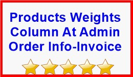 Products Weights Column At Admin Order Info-Invo..