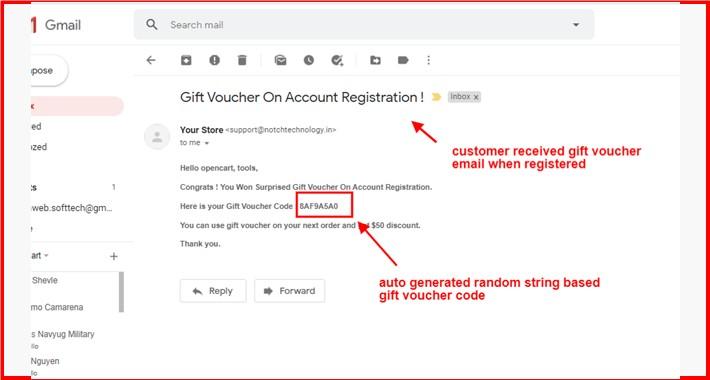 Auto Send Gift Voucher Code Email When Register
