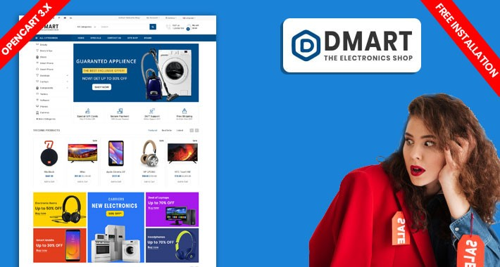 Dmart Electronics Multipurpose Theme (Free Installation)