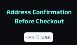 Address Confirmation Before Checkout