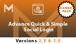 Advance Quick  & Simple Social Login ( Combo..