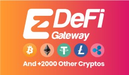 EzDeFi Bitcoin, ETH, Cryptocurrency payment gate..