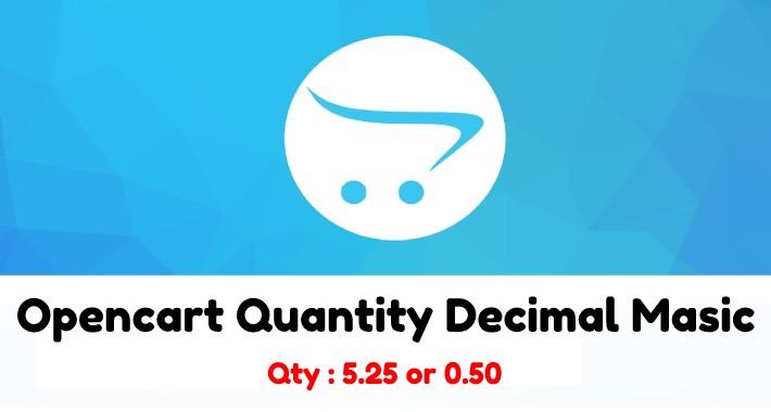Opencart Quantity Decimal Masic