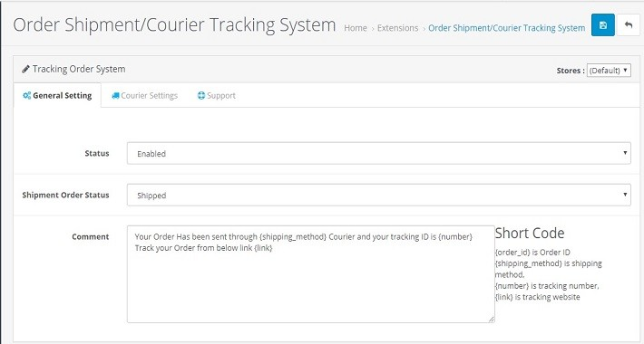 Order Shipment Courier Tracking System