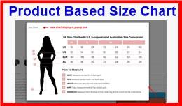 Product Based Size Chart