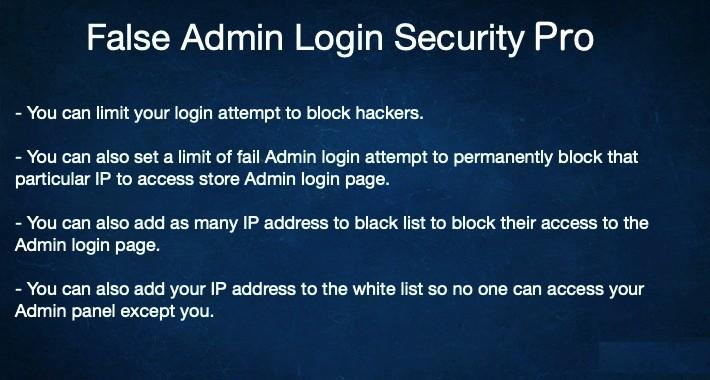 False Admin Login Security Pro