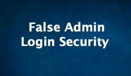 False Admin Login Security