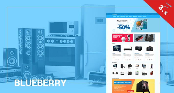 Blueberry - Electronics, Mobile, Toys - Responsive Template