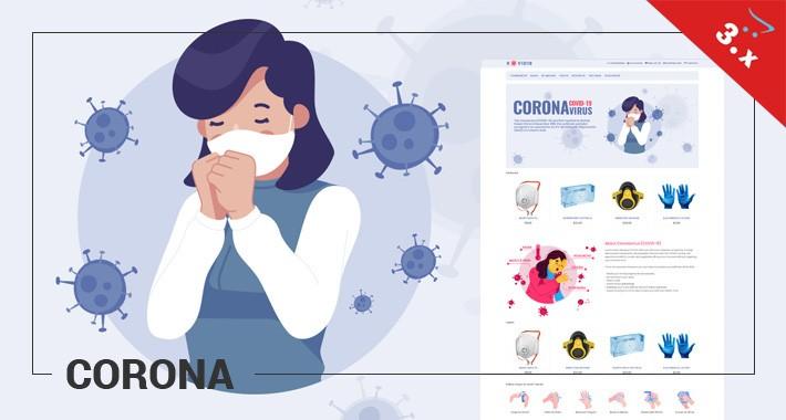 Corona - Health, Medical, Virus - Responsive Template