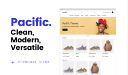 Pacific theme -  Responsive OpenCart 3.x.x theme.