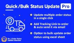 Quick/Bulk Order Status Update Pro(+ Tracking Li..
