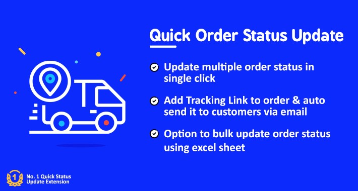 Quick/Bulk Order Status Update Pro(+ Tracking Link)