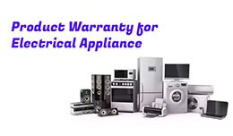 Product Warranty for Electrical Appliance