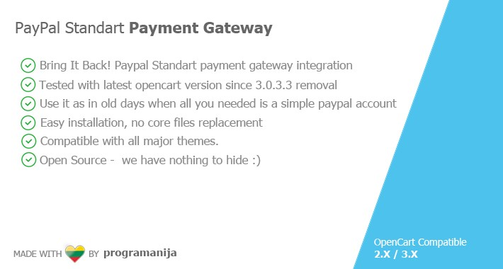 Paypal Standart 3.0.3.3