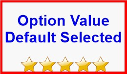 Option Value Default Selected