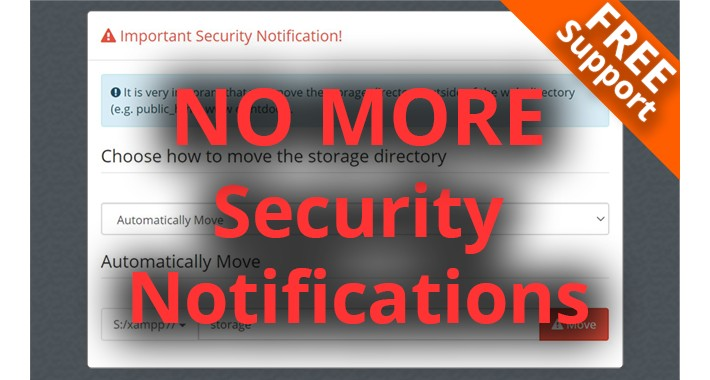 Hide Important Security Notification Pop-up