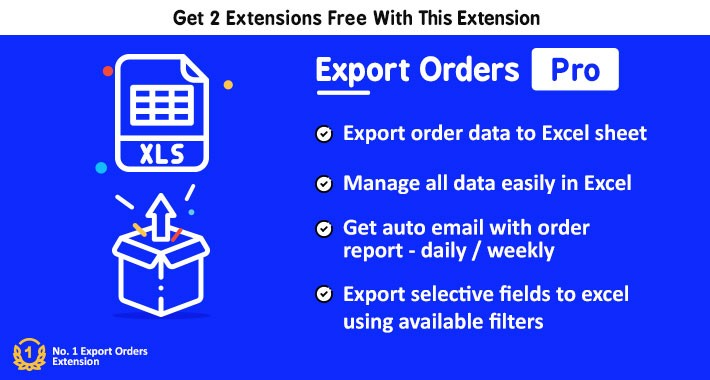 Export Orders to Excel Pro + Auto Email Order Report
