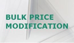 Bulk Price Modification