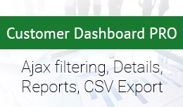 Customer Dashboard PRO