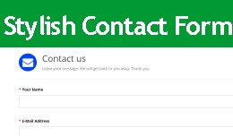 Stylish Contact us Form [ Works on any theme ]