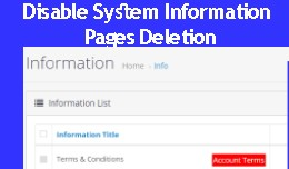 Disable Deletion & Display System Pages Info..