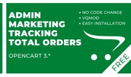 Admin Marketing Tracking Total Orders