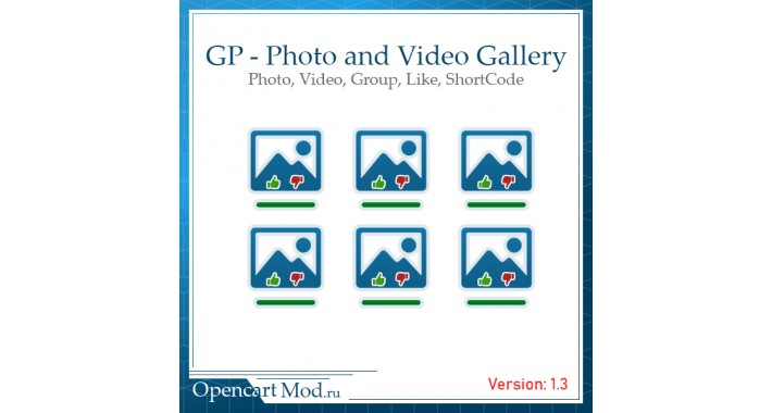 GP - Photo and Video Gallery for Opencart 2. x