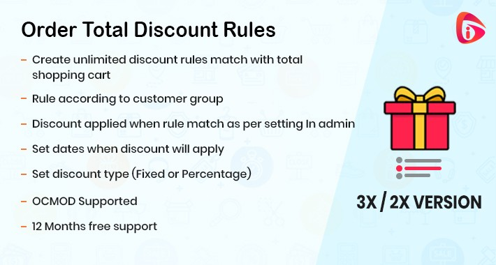 Order Total Discount Rules