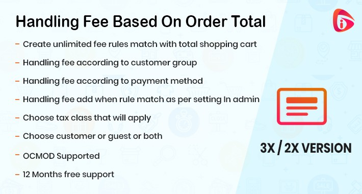 Handling Fee Based On Order Total