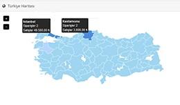 Türkiye Haritası - Admin Panel (Dashboard Turk..