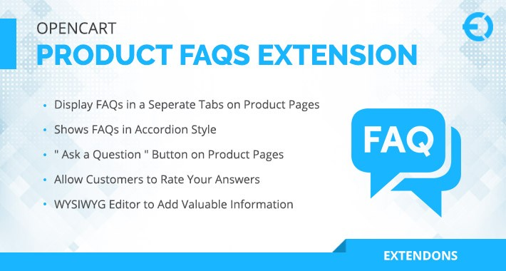 OpenCart Product FAQs Extension